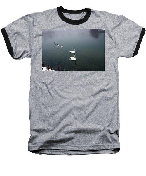 Geese In A Row Baseball T-Shirt