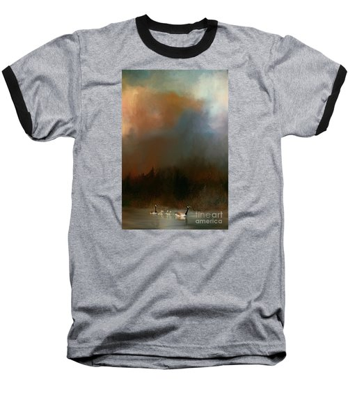 Baseball T-Shirt featuring the photograph Geese On A Nh Lake by Mim White