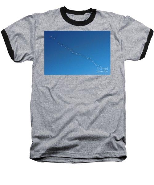 Geese On The Run Baseball T-Shirt