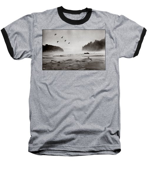 Geese Over Great Bay Baseball T-Shirt