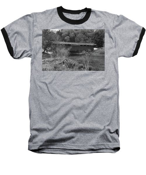 Geiger Covered Bridge B/w Baseball T-Shirt