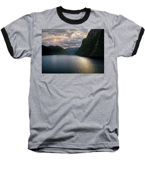 Geiranger Fjord Baseball T-Shirt by Jim Hill