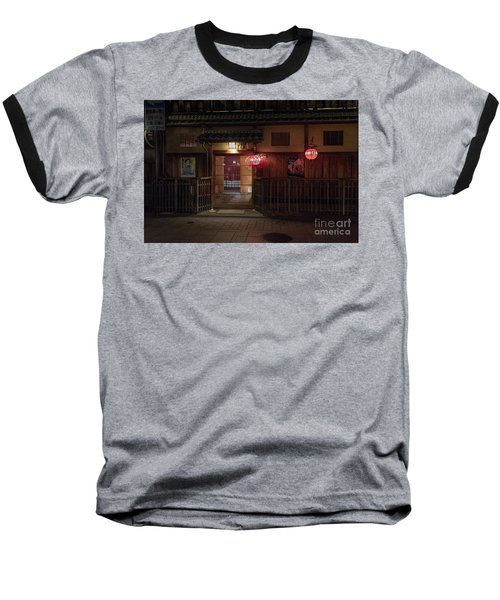 Baseball T-Shirt featuring the photograph Geisha Tea House, Gion, Kyoto, Japan by Perry Rodriguez
