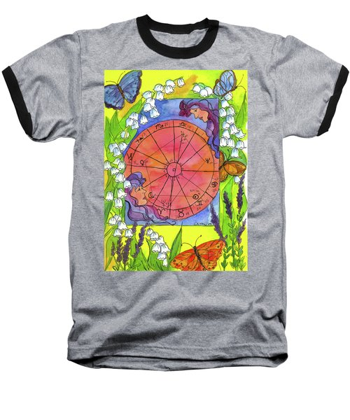 Baseball T-Shirt featuring the painting Gemini by Cathie Richardson