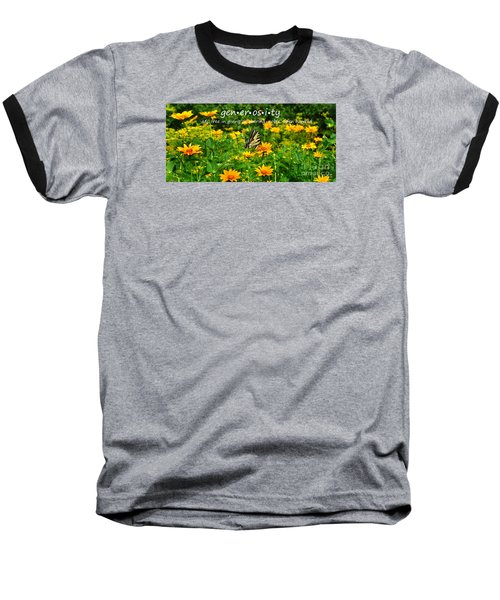 Baseball T-Shirt featuring the photograph Gen Er Os I Ty  by Diane E Berry