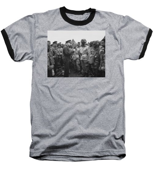 General Eisenhower On D-day  Baseball T-Shirt