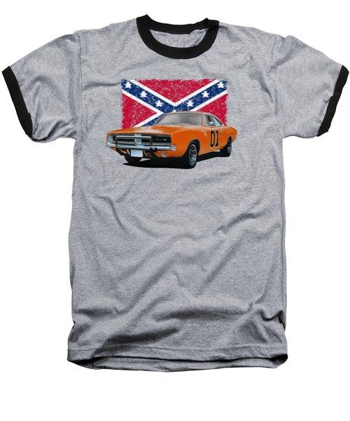 General Lee Rebel Baseball T-Shirt by Paul Kuras