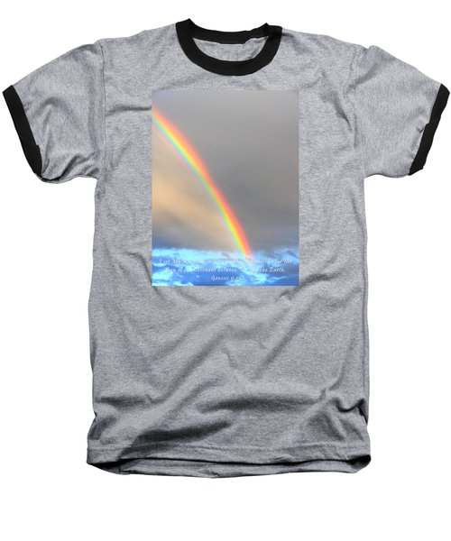 Genesis Rainbow Baseball T-Shirt by Lanita Williams