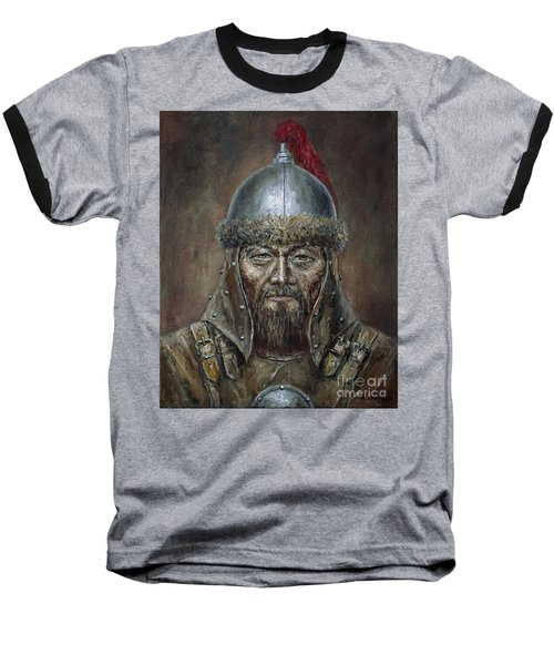 Genhis Khan Baseball T-Shirt by Arturas Slapsys