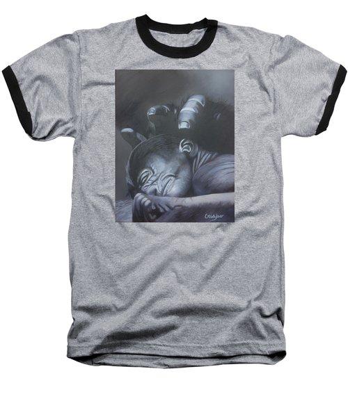 Gentle Caress Baseball T-Shirt by Jean Yves Crispo