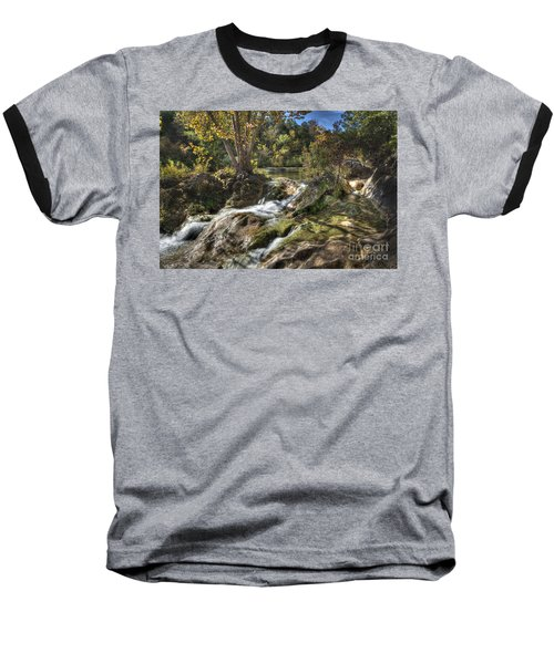 Baseball T-Shirt featuring the photograph Gentle Mountain Stream by Tamyra Ayles