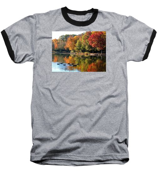 Baseball T-Shirt featuring the photograph Gentle Reflections by Teresa Schomig
