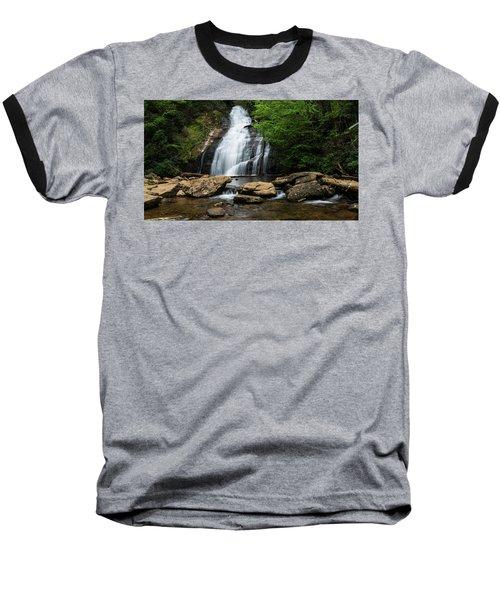 Gentle Waterfall North Georgia Mountains Baseball T-Shirt