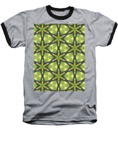 Geo Stars In Greens Baseball T-Shirt
