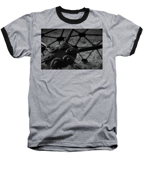 Geodome Climber 2 Baseball T-Shirt by Richard Rizzo
