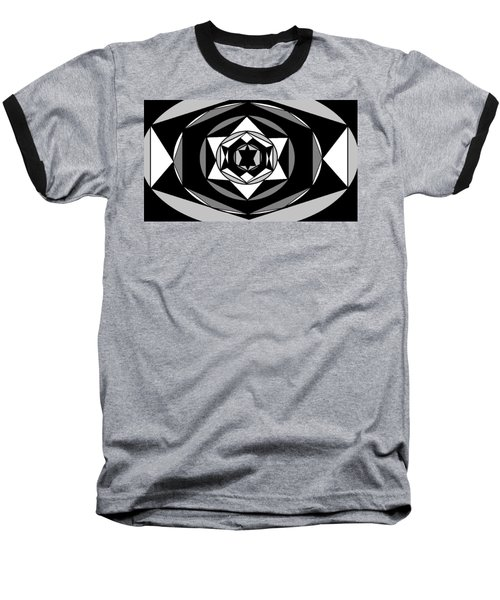 'geometric 1' Baseball T-Shirt