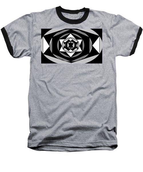 'geometric 1' Baseball T-Shirt