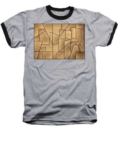 Geometric Abstraction IIi Toned Baseball T-Shirt