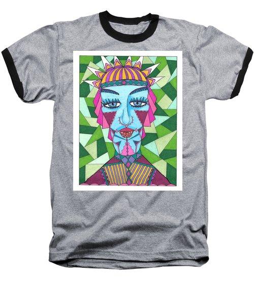 Geometric King Baseball T-Shirt