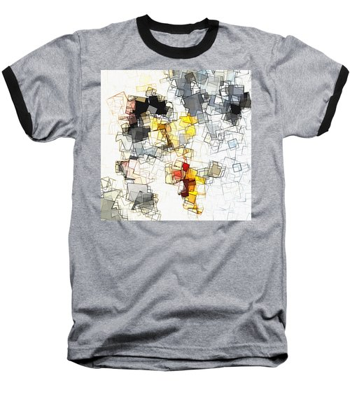 Geometric Minimalist And Abstract Art Baseball T-Shirt by Ayse Deniz