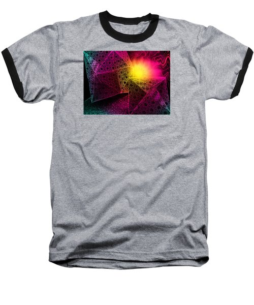 Baseball T-Shirt featuring the photograph Geometric Mystery by Shawna Rowe