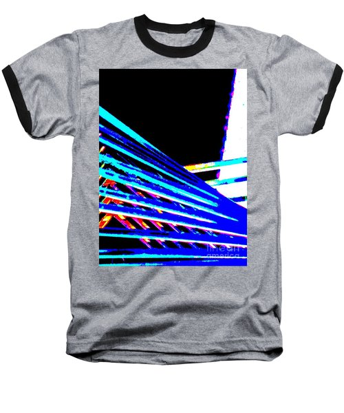 Geometric Waves Baseball T-Shirt