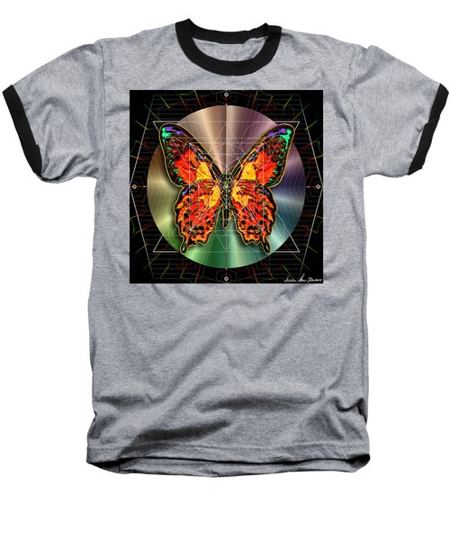 Geometron Fyr Lepidoptera Baseball T-Shirt by Iowan Stone-Flowers