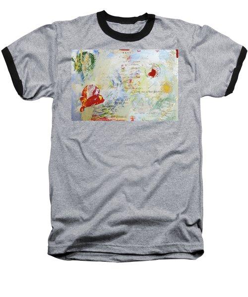 Geometry Of Desire Circles Baseball T-Shirt by Ann Tracy