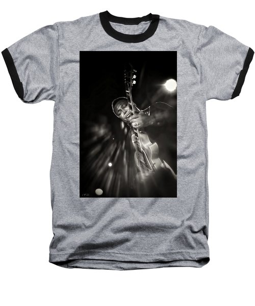 George Benson Black And White Baseball T-Shirt