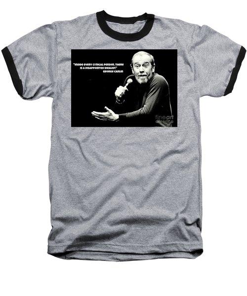 George Carlin Art  Baseball T-Shirt