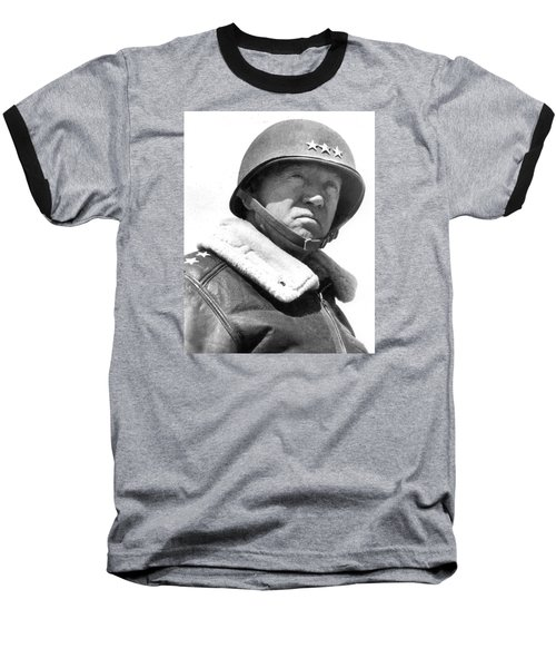 George S. Patton Unknown Date Baseball T-Shirt by David Lee Guss