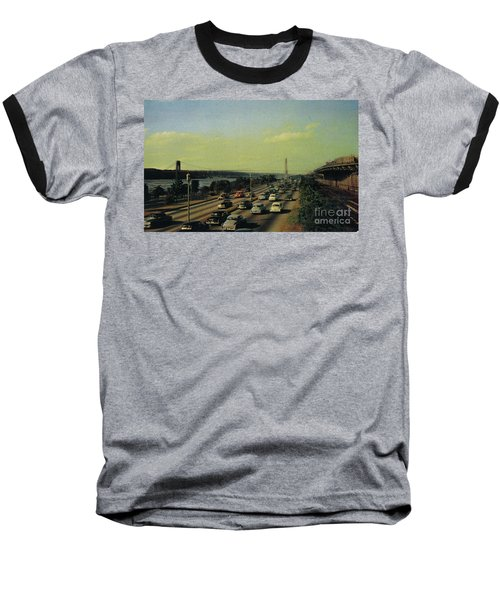 Baseball T-Shirt featuring the photograph George Washington Bridge  by Cole Thompson