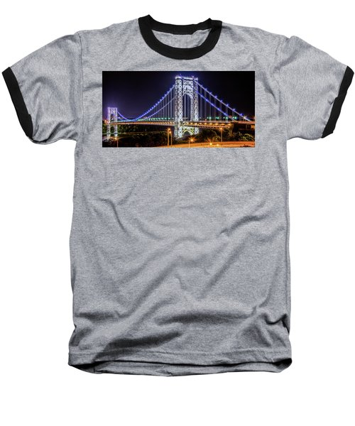 Baseball T-Shirt featuring the photograph George Washington Bridge - Memorial Day 2013 by Theodore Jones