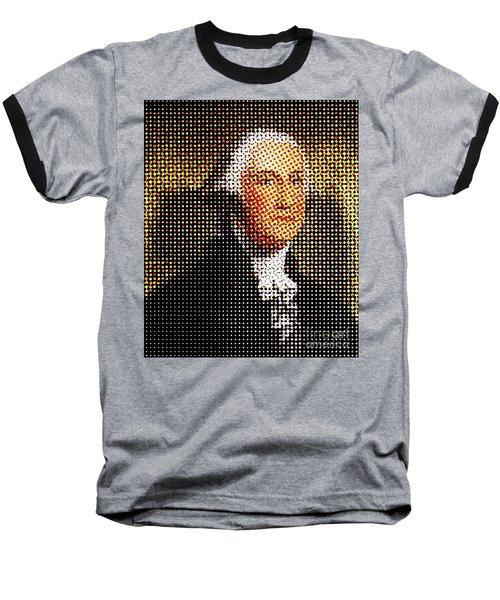 George Washington In Dots  Baseball T-Shirt by Paulo Guimaraes