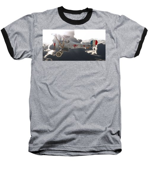 Georges Guynemer Nieuport 17 Baseball T-Shirt by David Collins