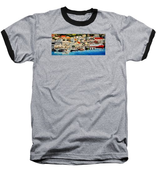 Georgetown Harbor, Grenada Baseball T-Shirt