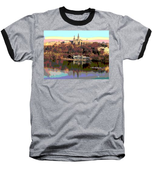 Georgetown University Crew Team Baseball T-Shirt by Charles Shoup