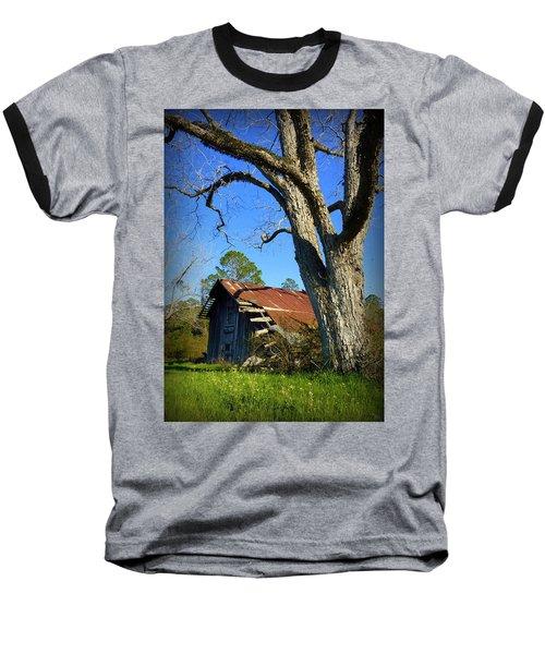 Georgia Barn Baseball T-Shirt by Carla Parris
