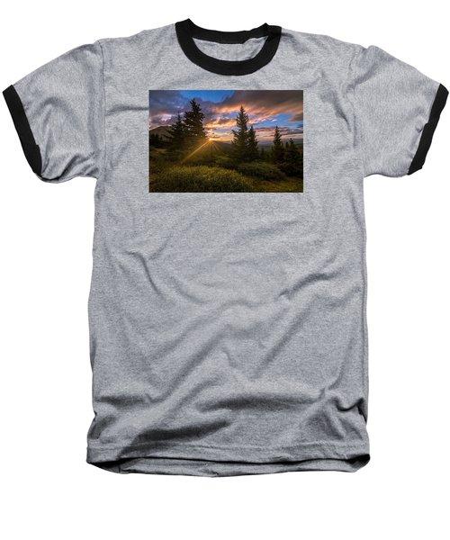 Georgia Pass Sun Rays Baseball T-Shirt by Michael J Bauer