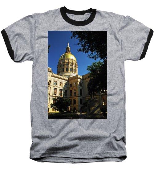 Georgia State Capitol Baseball T-Shirt by James Kirkikis