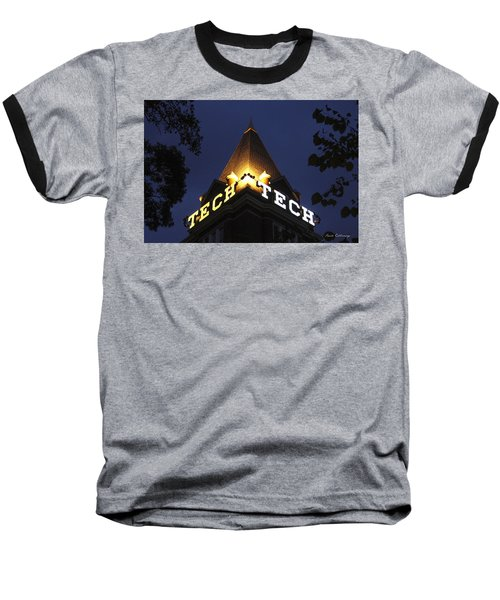 Georgia Tech Atlanta Georgia Art Baseball T-Shirt by Reid Callaway