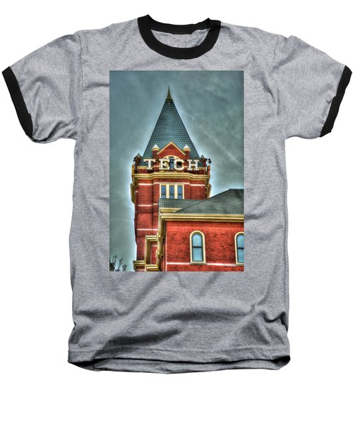Georgia Tech Tower 8 Georgia Institute Of Technology Art Baseball T-Shirt