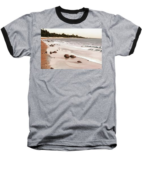 Georgian Bay Beach Baseball T-Shirt by Kenneth M  Kirsch