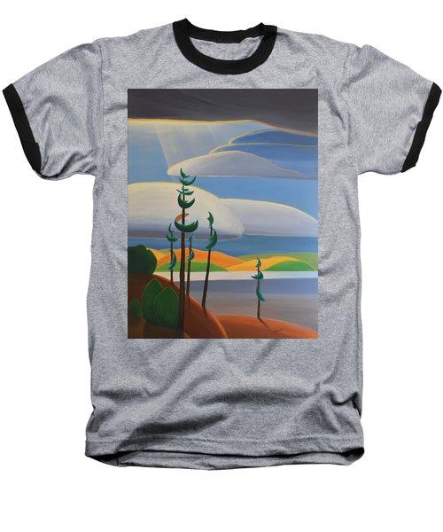 Georgian Shores - Right Panel Baseball T-Shirt