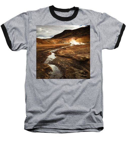 Geothermal Area Krysuvik In Iceland Baseball T-Shirt