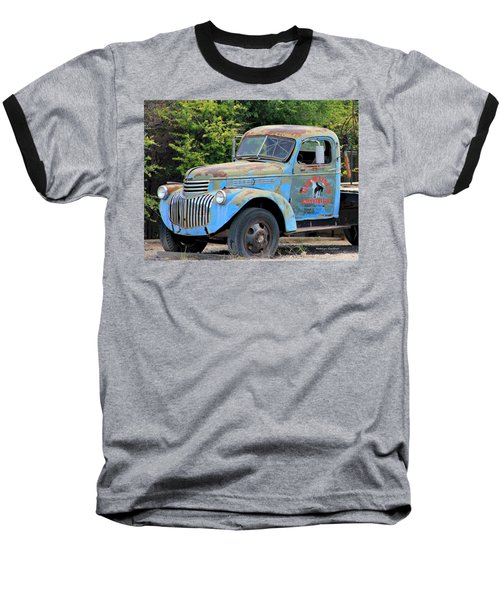 Geraine's Blue Truck Baseball T-Shirt