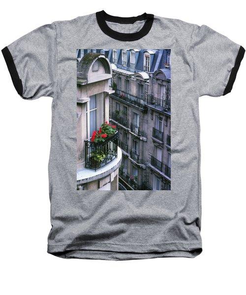 Geraniums - Paris Baseball T-Shirt