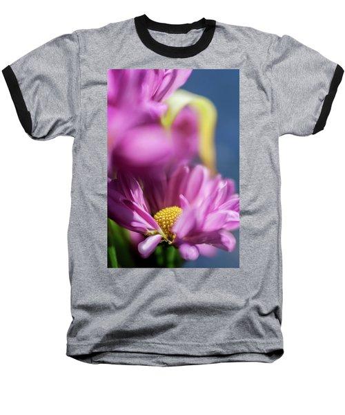 Gerber Daisy In Purple Baseball T-Shirt
