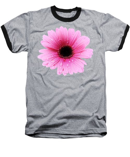 Gerbera Pink - Daisy Baseball T-Shirt by MTBobbins Photography