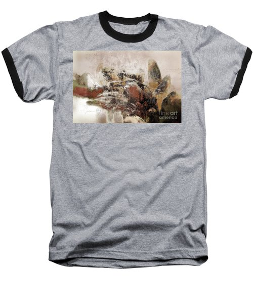Baseball T-Shirt featuring the mixed media Gerberie - 152s by Variance Collections